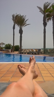 My feet at the pool. Could be MUCH worse